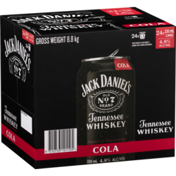 Photo of Jack Daniel's & Cola Cube 24*330ml