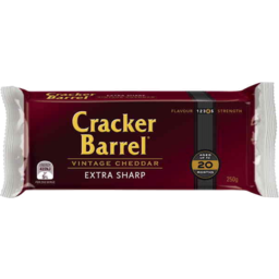 Photo of Cracker Barrel Vintage Cheddar Extra Sharp 250g Resealable Pack