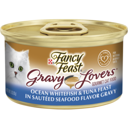 Photo of Fancy Feast Adult Gravy Lovers Ocean Whitefish & Tuna Feast In Seafood Flavour Gravy Wet Cat Food 85g