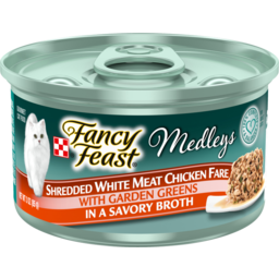 Photo of Fancy Feast Cat Food Elegant Medleys Shredded White Meat Chicken Fare 85g