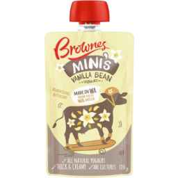 Photo of Brownes Mini's Yoghurt Pouch Vanilla Bean (120g)