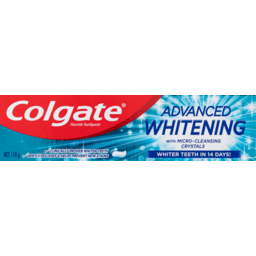 Photo of Colgate Advanced Whitening Teeth Whitening Toothpaste With Microcleansing Crystals 110g