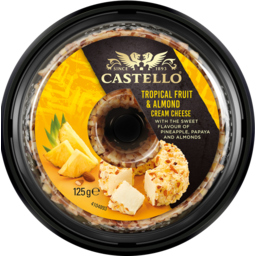 Photo of Castello Tropical Fruit & Almond Cream Cheese 125g