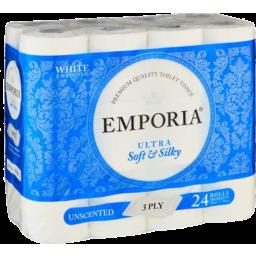 Photo of Emporia Toilet Tissue 3ply 24pk White Unscented