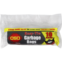 Photo of Oso Easy-Tie Garbage Bags 10pk