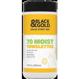 Photo of Black & Gold Multi Purpose 70 Moist Towelettes