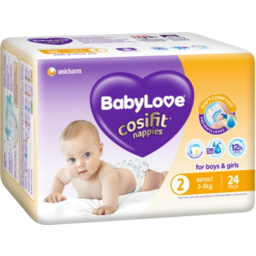 Photo of Babylove Cosifit Nappies Infant 3-8kg 24pk