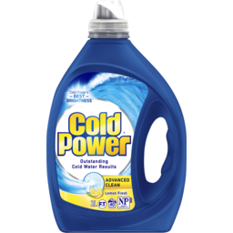 Photo of Cold Power Advanced Clean Lemon, Washing Liquid Laundry Detergent, 2 Litres