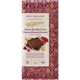 Photo of Whittaker's Milk Chocolate With Plum & Almond 100g