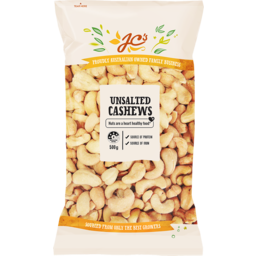 Photo of J.C.'s Unsalted Cashews 500g