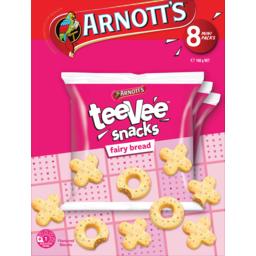 Photo of Arnotts Fairy Bread Tee Vee Snacks Multipack 8 Pack 168g