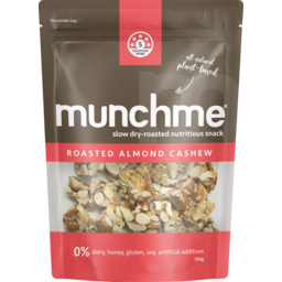 Photo of Munchme Roasted Almond Cashew Plant Based Snack 120g