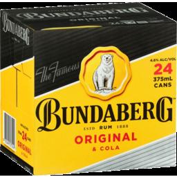 Photo of Bundaberg Original Rum & Cola Cube 24x375ml