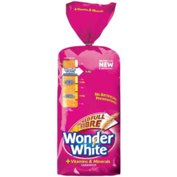 Photo of Wonder White + Vitamins & Minerals Sandwich Loaf 700g
