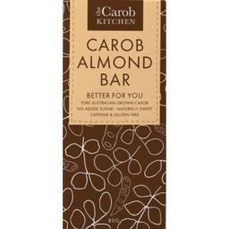 Photo of The Carob Kitchen Caffeine & Gluten Free Carob Almond Bar 80g