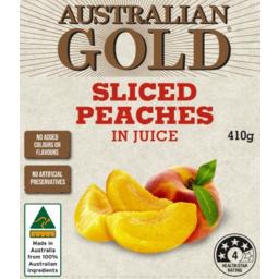 Photo of Australian Gold Peach Slices In Juice 410g