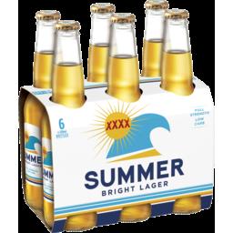 Photo of Xxxx Summer Bright Lager 6 X 330ml Bottle Wrap