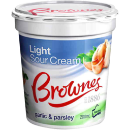 Photo of Brownes Garlic & Parsley Sour Cream 200gm