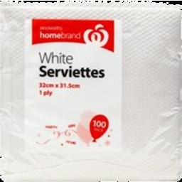 Photo of Essentials White Serviettes 100 Pack
