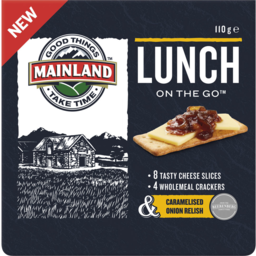 Photo of Mainland Lunch On The Go Cheese & Caramelised Onion Relish 110gm