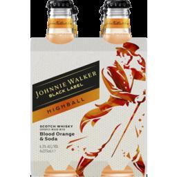 Photo of Johnnie Walker Black Highball Blood Orange Bottle