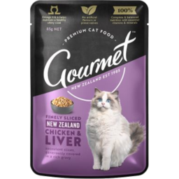 Photo of Gourmet Cat Nz Chicken & Liver 85g