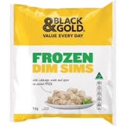 Photo of Black & Gold Dim Sims 1kg
