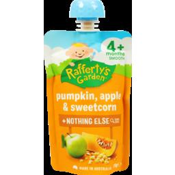 Photo of Raffertys Garden Pumpkin Apple Sweetcorn 120g