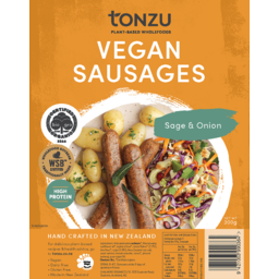 Photo of Tonzu Vegan Sausages Sage & Onion 300g