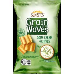 Photo of Sunbites Grainwaves Wholegrain Chips Sour Cream & Chives 110g