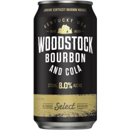 Photo of Woodstock Bourbon & Cola 8% 375ml