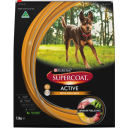 Photo of Purina Supercoat Active With Real Beef Dry Dog Food 7.5kg