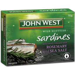Photo of John West Sardine Sea Salt & Rosemary 110gm