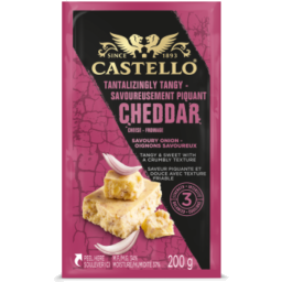 Photo of Castello Red Onion Savoury Cheddar 200g
