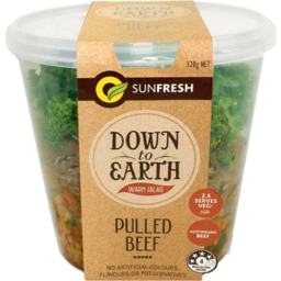 Photo of Sunfresh Down To Earth Pulled Beef Warm Salad Pot 320g