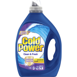 Photo of Cold Power Advanced Clean, Clean & Fresh, Liquid Laundry Detergent, 1.8L