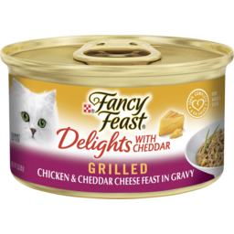 Photo of Fancy Feast Delights With Cheddar Grilled Chicken & Cheddar Cheese Feast In Gravy 85g