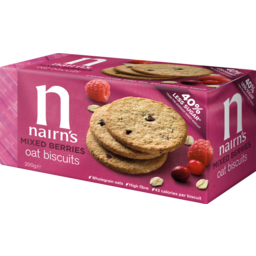 Photo of Nairn's Mixed Berry Sweet Biscuits 200g