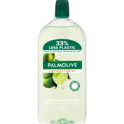 Photo of Palmolive Antibacterial Liquid Hand Wash Soap 500ml, Odour Neutralising Lime Refill & Save No Parabens Recyclable Bottle 500ml