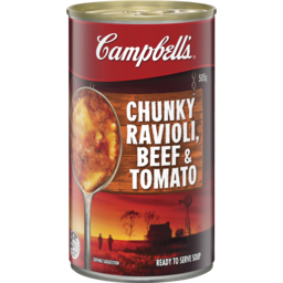 Photo of Campbell's Soup Chunky Beef Ravioli & Tomato 505gm
