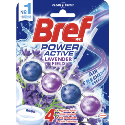 Photo of Bref Power Active Lavender Field, Rim Block Toilet Cleaner, 50g