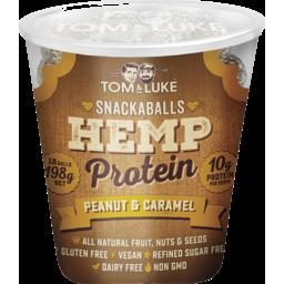 Photo of Tom & Luke Snackaballs Hemp Protein Peanut & Caramel 198g