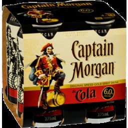 Photo of Captain Morgan Original Spiced Gold & Cola 6% Cans
