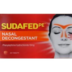 Photo of Sudafed Pe Sinus Treatment Nasal Decongestant 20
