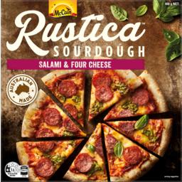 Photo of Mccain Rustica Salami & Four Cheese Sourdough Pizza 400g