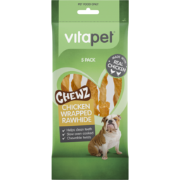 Photo of Vitapet Chicken Wrapped Rawhide Chewz Sticks 5 Pack