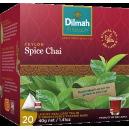 Photo of Dilmah Ceylon Spice Chai Leaf Pyramid Bags 20 Pack 40g