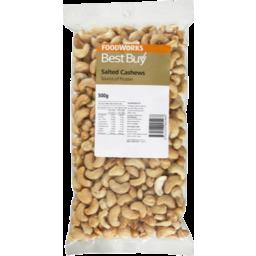 Photo of Best Buy Cashews Salted 500g