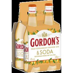 Photo of Gordons Mediterranean Orange Gin Bottles