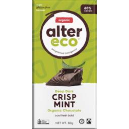 Photo of Alter Eco Dark Mint 60% Chocolate 80g